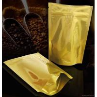 Cheap Laminated Coffee Plastic Packaging Bags Self-Standing , PET / AL / PE for sale