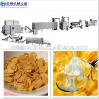 Quality Twin Screw Extruder Corn Cereals Chips Flakes Making Machine wholesale
