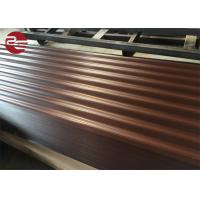 China Prepainted Corrugated Galvanized Sheet Metal Profile Roofing Sheets With Ce Certificate on sale