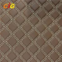 Buy cheap Fashionable Designs Embroidery PU PVC Leather With High Density Foam For Car from wholesalers