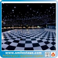 Cheap Black and white dance floor with sparkling lighting for sale