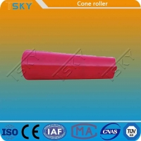 Cheap Red Cone Shape Self Lubrication Conveyor Idler Roller for sale