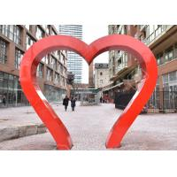 Cheap Park Decoration Red Painted Heart Door Stainless Steel Sculpture for sale