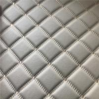 Buy cheap Embroidery PU PVC Artificial Leather With Foam For Car Seat Car Floor from wholesalers