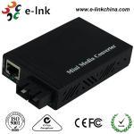Cheap E- Link Single Mode SC Fiber Ethernet Media Converter 10 / 100 / 1000Mbps for sale