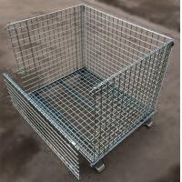 Cheap Custom Size Stacking Pallet Racks , Industrial Wire Containers For Bulk Materials Handling for sale