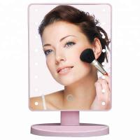 Cheap Pink Rectangular led lighted vanity makeup mirror with touch sensor dimming for sale