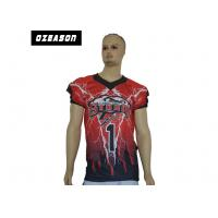 Anti Wrinkle Custom College Football JerseysXS-6XL No Color Limit Polyester Knit Manufactures