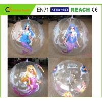 Clear PVC Inflatable Beach Ball Easy Carrying Light Weight For Pool Toys