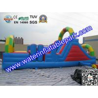 Buy cheap 0.55mm PVC Tarpaulin Inflatable Obstacle Course Rental Waterproof And Fireproof from wholesalers