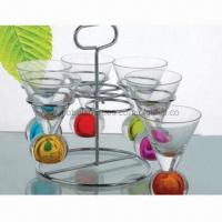 Cheap 6-piece Shot Glass Set with Iron Support for sale