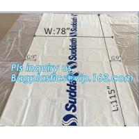 Cheap pe bag pallet cover plastic bag sqaure bottom bag, 54 x 44 x 96 1 Mil ldpe Clear Pallet Covers, top covers clear plasti for sale