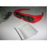 Cheap Red Universal Active Shutter 3D TV Glasses Reaction LCD Lenses for sale