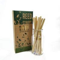Cheap Wholesale ECO Customized Logo Natural Disposable Drinking Reed Straw 20cm for sale