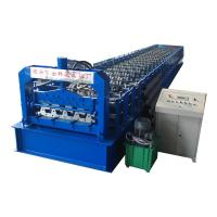 Cheap Uzbekistan/Khazakistan Floor Deck Roll Forming Machine Model H75 used for 0.6-0.8mm thickness for sale