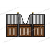 Cheap Black Style European Horse Stalls Fronts Panel Steel Pipe Material for sale