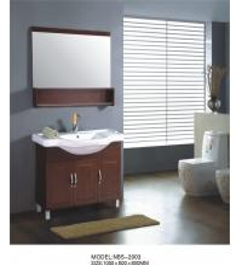 Different handles custom bathroom vanity solid wood , white wood bathroom wall cabinet optional Waste drain