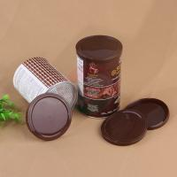 Cheap Customized Logo PE Plastic Lids 73mm Brown Color For Paper Pop Can for sale