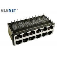 Vertical 90 Degree 10G RJ45 Connector 2 x 6 Magnetic For Ethernet Switches