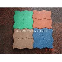 Cheap Interlocking Outdoor rubber paver support black / red / green / blue for sale