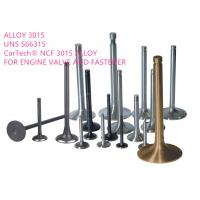 Cheap Exhaust Valves High Performance Alloys , Iron Nickel Base Alloy Corrosion Resistance for sale