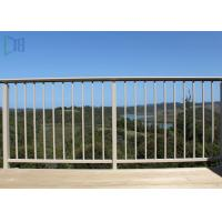 Cheap Finished Surface Aluminium Balustrade / Fixed Outdoor Stair Railing for sale