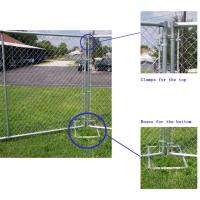 galvanized tension wire temporary chain link fence/9 gauge 3ft garden chain link fencing