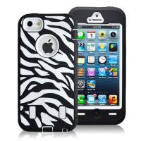 Cheap Hard Plastic & Silicon Case Zebra Combo Case For Iphone 5g Hybride Case Cover for sale