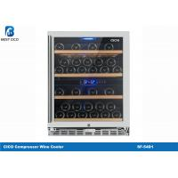 Buy cheap Double Zone Compressor Wine Cooler SF-54D1 Seamless Stainless Steel Door Frame from wholesalers