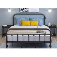Cheap Home Hotel Apartment Bedroom Odm Industrial Pipe Bed Furniture for sale