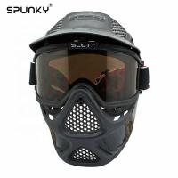 Cheap Durable Paintball Tactical Full Face Mask With Double Lens Goggles for sale