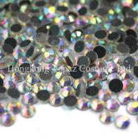 Cheap ab effect clear ab crystal ab hot-fix crystal stone for garment accessories for sale
