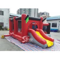 Cheap Commercial outdoor kids red combos with slide for amusement park from Sino factory for sale