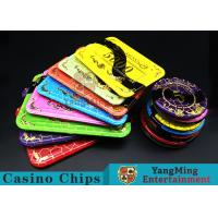 Cheap Crystal Acrylic Casino Poker Chips With Mesh Bronzing Silk Screen for sale
