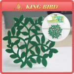 Cheap Home Craft Felt  Flower Eco-friendly Green Mat Blank Glass Coaster for sale