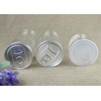 Cheap 50ml Food Grade Clear Plastic Cylinder Tubes , Transparent PET Nut Cans for sale