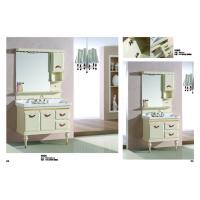 Floor Standing Embossing PVC Bathroom Cabinet / Bathroom Decoration Furniture Manufactures