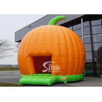 Cheap Halloween Inflatables Giant Pumpkin Kids Bounce House Double for outdoor party for sale