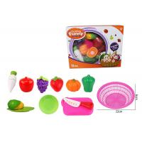 Cheap 12 Pcs Pretend Role Play Children's Play Toys for Kitchen Fruit Vegetable Cutting for sale