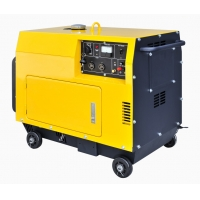 Cheap Air Cooled 6KVA 148kg Diesel Portable Generator For Home Use for sale