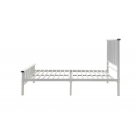 Cheap Easy Assembly ODM 1.5mm White Metal Single Bed for sale