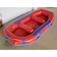 Cheap Red Inflatable Rafting Boat , Inflatable Dinghy Boat For Fishing Or River for sale