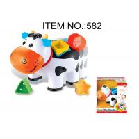 Cheap Toddler B / O Cow W / Shape Sorter Blocks Infant Baby Toys Educational 5 Pcs Playset for sale