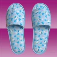 indoor colorful printed flower fabric slipper for women