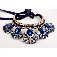 Cheap TP-N4  Rhinestone Statement Chunky Collar Necklace Short necklace for sale