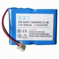 Cheap Lithium-ion Battery Pack, 7.4V Voltage for sale