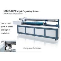 Cheap Textile Industrial Digital Rotary Inkjet Engraver , Computer-to-screen Inkjet Screen Engraving Machine for sale