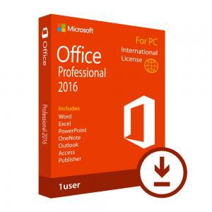 Microsoft Office 2016 Key Code Professional Single - PC Retail Box Easy Using