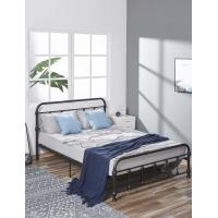 Cheap Full Size Durable King Size Iron Bed Customizable Services Elegant Design for sale