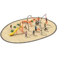 Cheap 830*580*250cm Simple Design Rope Climbing Structure Playground Environmental Protection for sale